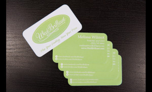 Business card design for Wedbrilliant.