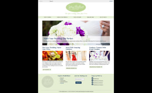 Design for the WedBrilliant homepage