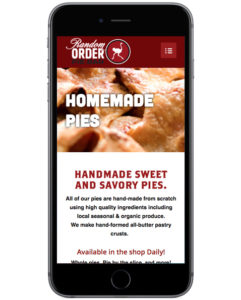 Random Order's new mobile site achieves the goals of the desktop version and makes it easy to view for people on-the-go.